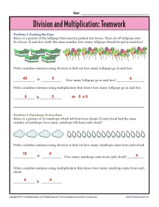 math worksheet : 3rd grade multiplication and division worksheets : Multiplication Sentence Worksheets