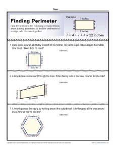 And Perimeter Word Problems Worksheets - Samsungblueearth