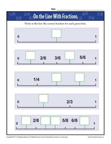 math worksheet : 3rd grade math worksheets  on the line with fractions : Fraction Number Line Worksheets