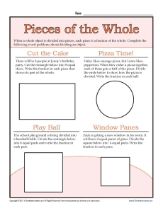 math worksheet : 3rd grade fraction worksheets  pieces of the whole : Fractional Parts Worksheet