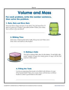 math worksheet : units of measurement worksheets  volume and mass : Volume Math Worksheets