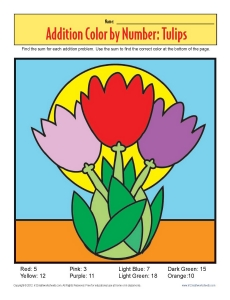 Addition_Color_by_Number_Tulips