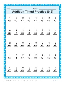 Addition Timed 0-2 | Math Worksheets