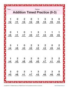 math worksheet : addition timed 0 3  math worksheets : Addition Timed Worksheets