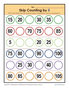 Skip Counting worksheets - by 5