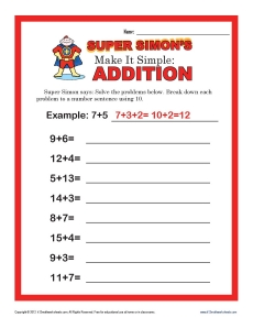 math worksheet : make it simple  2nd grade addition worksheets : Make Addition Worksheets