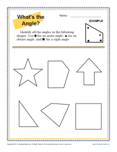 What's the Angle | 4th Grade Geometry Worksheets