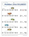 Number line Airplane