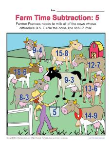 Farm Time Subtraction 5