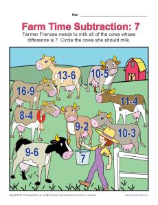 Farm Time Subtraction 7
