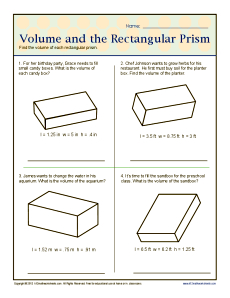 math worksheet : volume and the rectangular prisms : Math Worksheets Volume