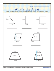 math worksheet : what s the area  6th grade geometry worksheets : Math Worksheets For 6th Grade