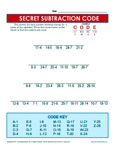 Secret Subtraction_Code