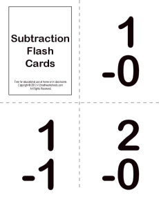 subtraction flash cards kindergarten 1st grade math worksheets. Black Bedroom Furniture Sets. Home Design Ideas