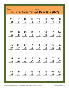 Subtraction_Timed 0-7