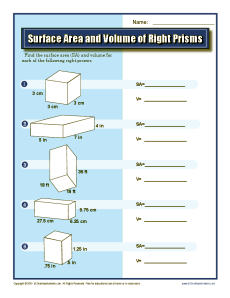 Surface Area and Volume of Right Prisms | 7th Grade Geometry ...