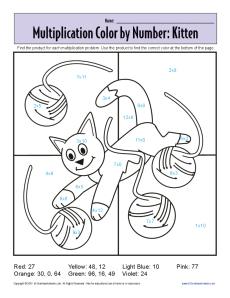 math worksheet : multiplication color by number  kitten  printable math worksheets : Multiplication Color By Number Worksheet
