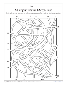 math worksheet : multiplication maze 1  printable multiplication facts worksheets : Multiplication Math Facts Worksheets