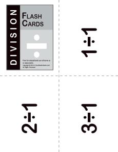 division flash cards math worksheets. Black Bedroom Furniture Sets. Home Design Ideas