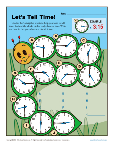 Telling Time Worksheet 2