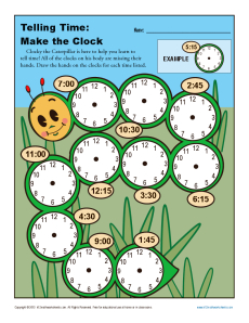 Making the Clock | 1st and 2nd Telling Time Worksheets