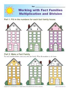 math worksheet : fact famiy worksheets  multiplication and division : Multiplications And Division Worksheets