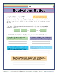 Printables Equivalent Ratios Worksheet equivalent ratios 6th grade ratio worksheets math worksheets