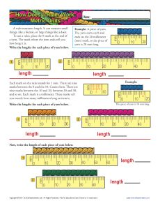 Worksheet How To Read A Ruler Worksheet how to read a ruler metric measurement worksheets math worksheets