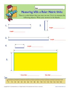 Finding Metric Length Worksheet