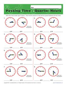 Grade 2 worksheets on time