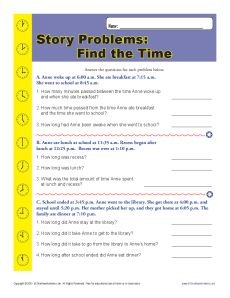 elapsed time word problems worksheet for 2nd grade. Black Bedroom Furniture Sets. Home Design Ideas