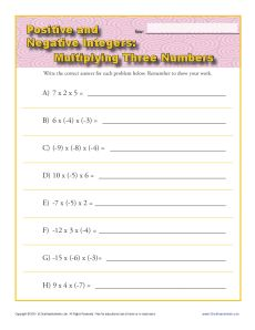 Subtracting Negative Integers Worksheet Worksheets for all further Rules For Multiplying And Dividing Integers Adding Worksheet further positive and negative integers worksheet Frame of adding and taking as well Integers Worksheets furthermore Quiz Worksheet Adding Positive Negative Integers Study And also Adding and Subtracting Negative Numbers Worksheets 27 Best Of together with Multiplying Three Numbers   Integer Worksheets besides Integers Worksheets   Dynamically Created Integers Worksheets together with Adding Positive And Negative Integers Worksheets besides Adding And Subtracting Positive And Negative Integers Worksheets for additionally Math worksheets positive and negative integers   Download them and as well Negative Number Worksheets   Free    monCoreSheets furthermore  in addition Integers Worksheets   Dynamically Created Integers Worksheets besides positive and negative integers worksheet as well . on positive and negative integers worksheets