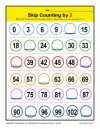 Math Skip Counting by 3 Worksheet