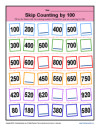 Math Skip Counting by 100 Worksheet