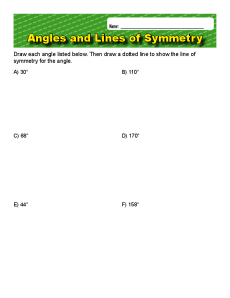 Angles and Lines of Symmetry Worksheet