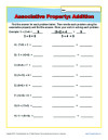math worksheet : printable property worksheets for math practice : Commutative And Associative Properties Of Addition Worksheets