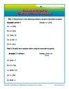 Associative Property Worksheet Problems