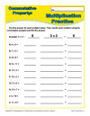 math worksheet : printable property worksheets for math practice : Properties Of Multiplication And Addition Worksheets