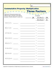 Printables Commutative Property Of Multiplication Worksheets commutative property multiplication worksheets for 3rd grade get worksheet