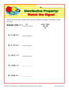Printables Distributive Property Worksheets 6th Grade printable property worksheets for math practice distributive watch the signs