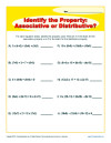 Worksheets Identifying Algebraic Properties Worksheet printable property worksheets for math practice identify the associative or distributive