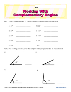 Working With Complementary Angles | 7th Grade Geometry