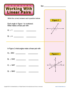 Working With Linear Pairs | 7th Grade Geometry Worksheets
