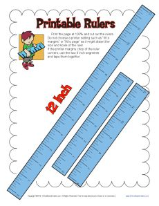 Lively image inside printable ruler inches