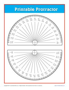 graphic relating to Free Printable Protractor identify Printable Protractor Absolutely free On the net Rulers