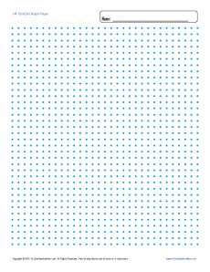 graphic relating to Dot Grid Printable named Printable Graph Paper - 1/4 inch Grid Dot Cost-free Blank Template