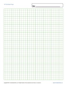 Printable Graph Paper 1 4 Inch Grid Blank Template