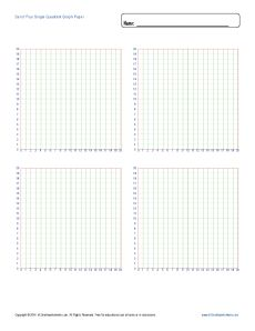 set_of_four_single_quadrant_graph_paper